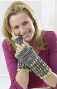 Winter Crochet Wristers