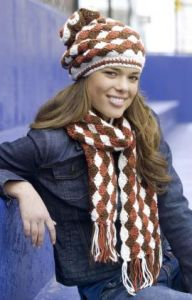 Shell Stitch Hat and Scarf