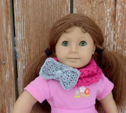 18 inch Doll Infinity Bow Scarf