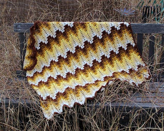 Crochet Patterns Galore Grandma Spiked My Ripple Blanket