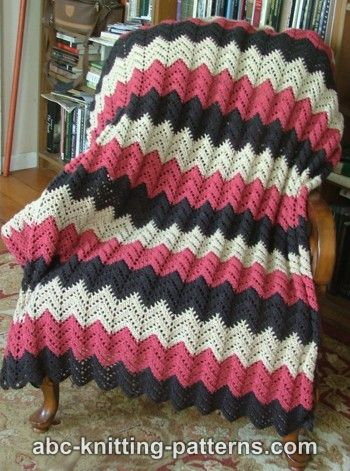 Crochet Patterns Galore - Lace Ripple Afghan