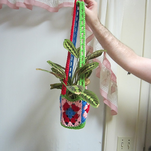 Crochet Patterns Galore Waiting For Spring Plant Hanger