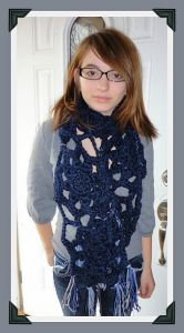 Easy Chunky Snowflake Scarf