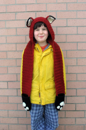 Free Knit Scoodie Pattern : Crochet Patterns Galore - Fox Scoodie with Pockets