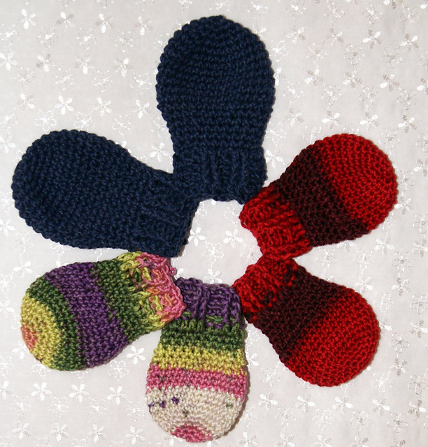 Free Crochet Pattern For Thumbless Mittens : Crochet Patterns Galore - Thumbless Mitten