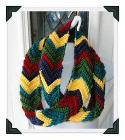 Crochet Patterns Galore Ripple Infinity Scarf