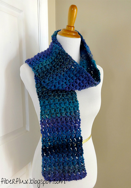 Crochet Patterns Galore Tweedy Puff Stitch Scarf