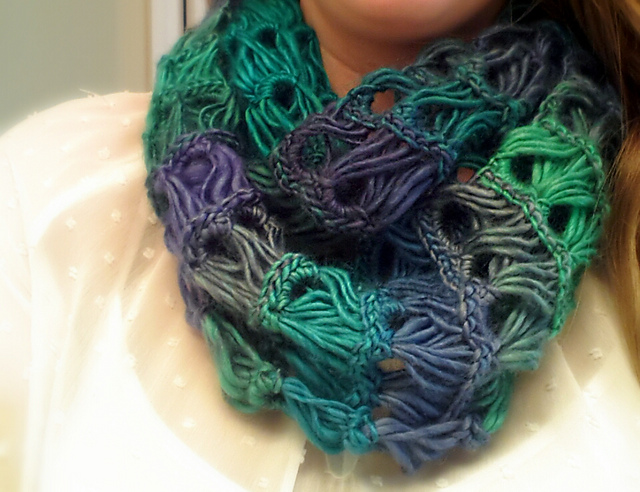 Crochet Patterns Galore Broomstick Lace Infinity Scarf