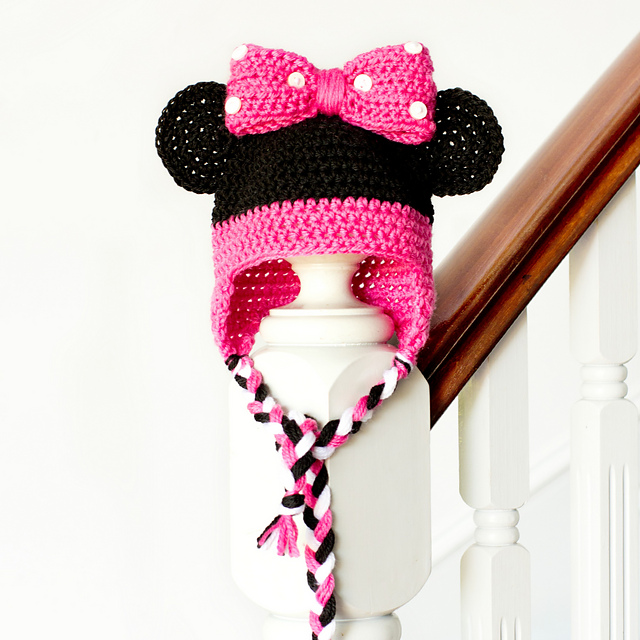 Crochet Patterns Galore - Minnie Mouse Baby Hat