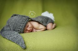Oversized Bunny Ears Newborn Hat