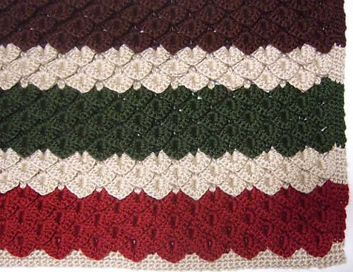 Crochet Patterns Galore Crocodile Stitch Blanket