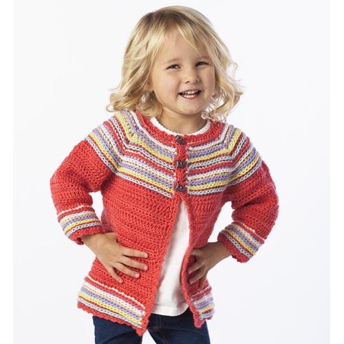 Crochet Patterns Galore : Crochet Patterns Galore - Cutie Bug Cardi