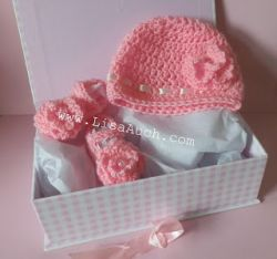Baby Hat and Baby Bootie Shoes Set