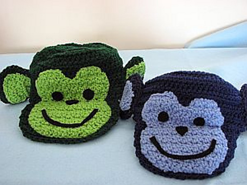 Free Crochet Patterns Monkey Hat : Crochet Patterns Galore - Monkey Hat