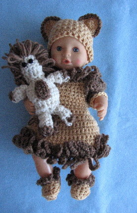 Crochet Patterns Galore Lion Theme Outfit Dress For 12