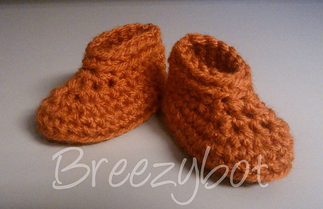Crochet Patterns Galore Breezybot Newborn Booties