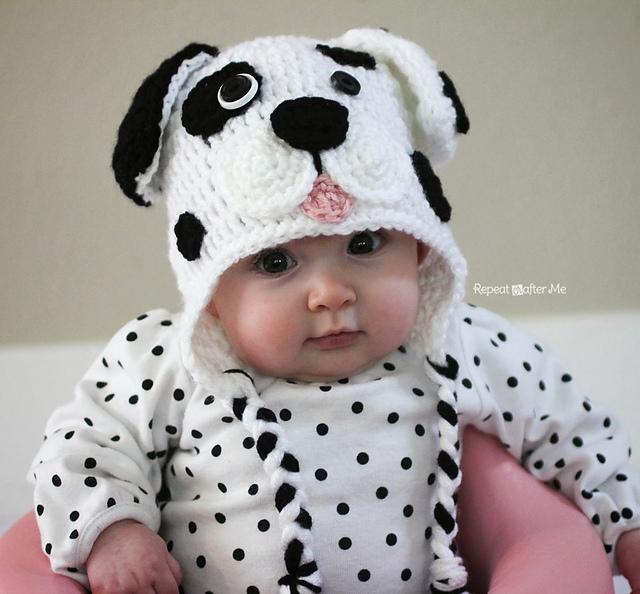 Crochet Patterns Galore - Dalmatian Dog Hat 310d6307474