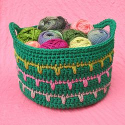 Spikes Yarn Basket
