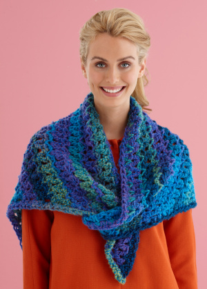 Crochet Shawl Patterns With Bulky Yarn : Crochet Patterns Galore - Easy Lace Triangle Shawl