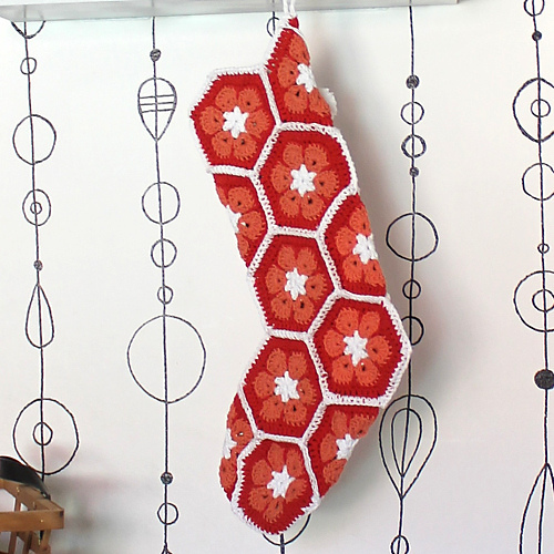 Crochet Patterns Galore - African Flower Stocking