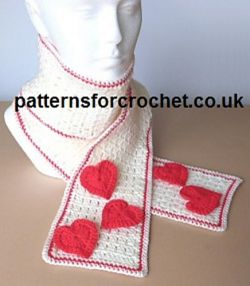 Scarf with Heart Motifs