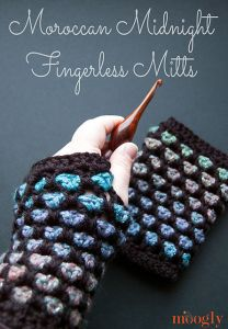 Moroccan Midnight Fingerless Mitts