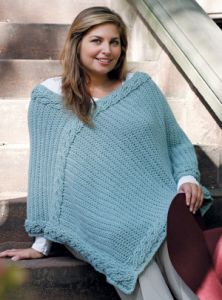 Curvy Girl Intertwined Poncho
