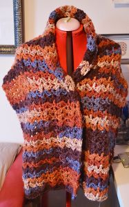Sunset and Shadows Prayer Shawl