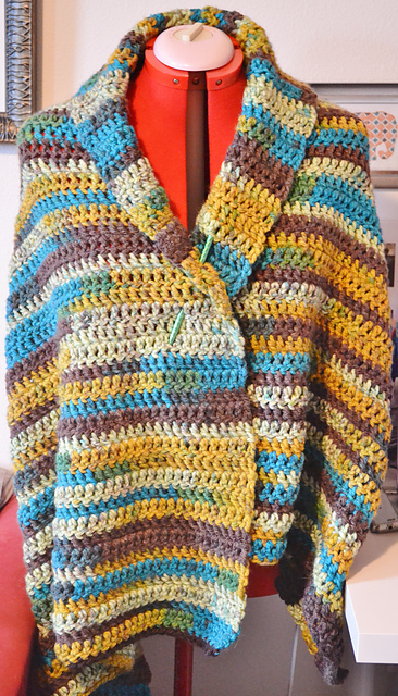 Crochet Patterns Galore - Wrapped in Nature Prayer Shawl