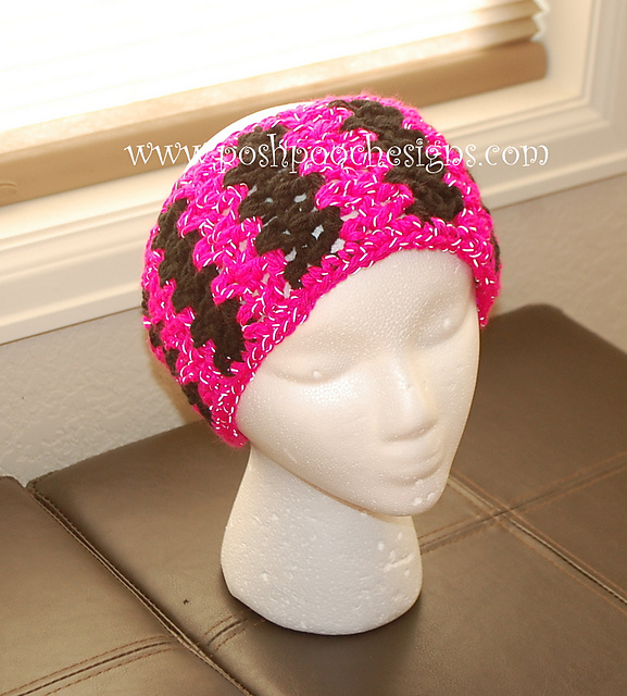 Crochet Patterns Galore - Chunky Reflective Yarn Headband