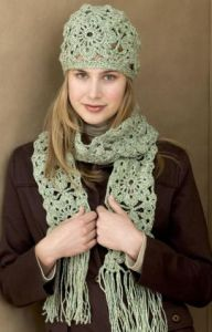 Crochet Squares Hat & Scarf