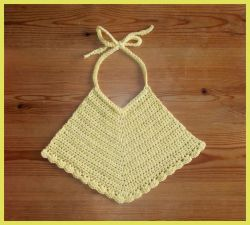 Pretty Cotton Baby Bib