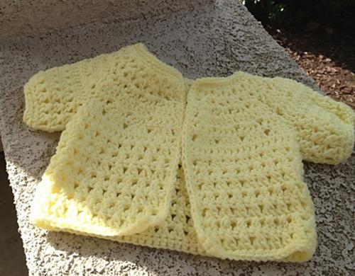 Crochet Patterns Galore - Karens Stitch Baby Sweater