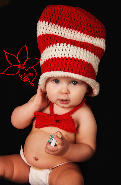 Crochet Patterns Galore - Dr. Seuss  Cat in the Hat - Hat   Bow Tie a9f3f5ed65e