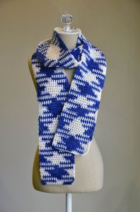 Color Pooling Argyle Scarf