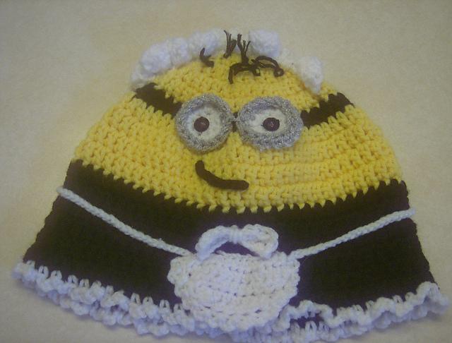 Crochet Patterns Galore Frenchie Minion Hat