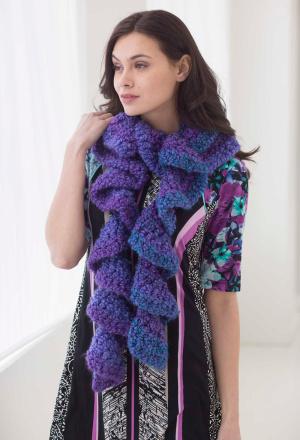 Crochet Ruffle Scarf - Free Crochet Pattern at Jimmy Beans