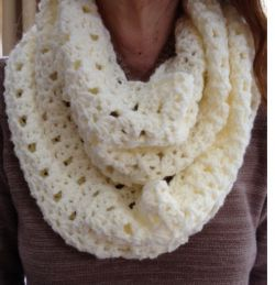 Lacy Shell Infinity Scarf
