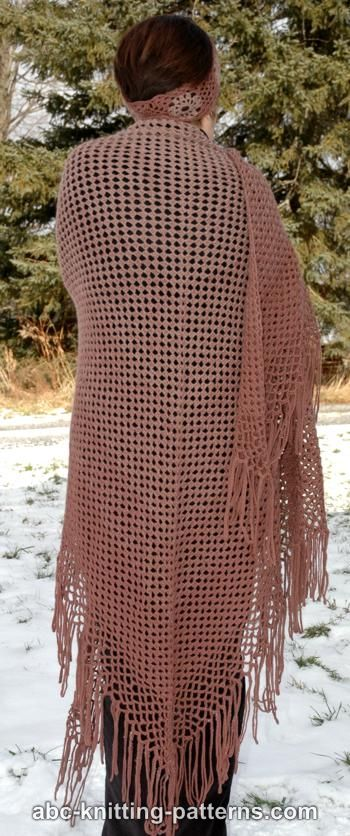 Crochet Patterns Galore Gradient Color Shawl With Crochet Fringe