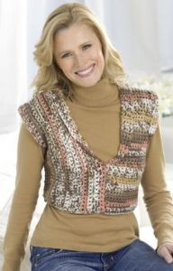 Right Angle Crocheted Vest