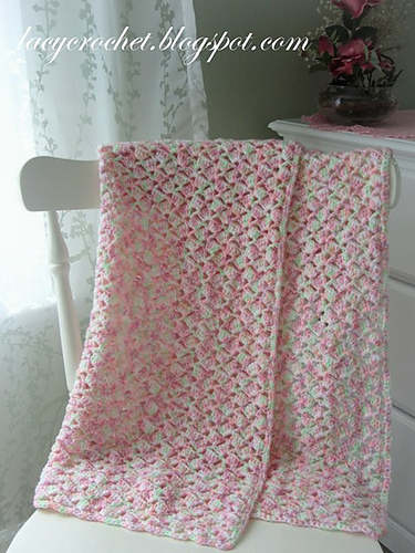 Crochet Patterns Galore Summer Baby Blanket In Variegated Yarn