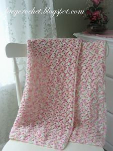 Summer Baby Blanket in Variegated Yarn