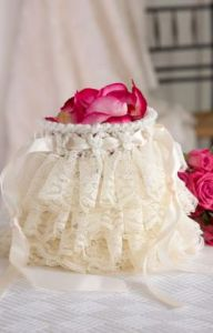 Ruffled Wedding Bag