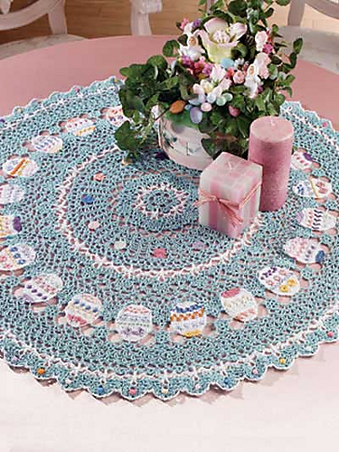 Crochet Patterns Galore Easter Table Topper