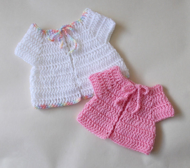 Crochet Patterns Galore - Premature Baby Sleeveless Jacket