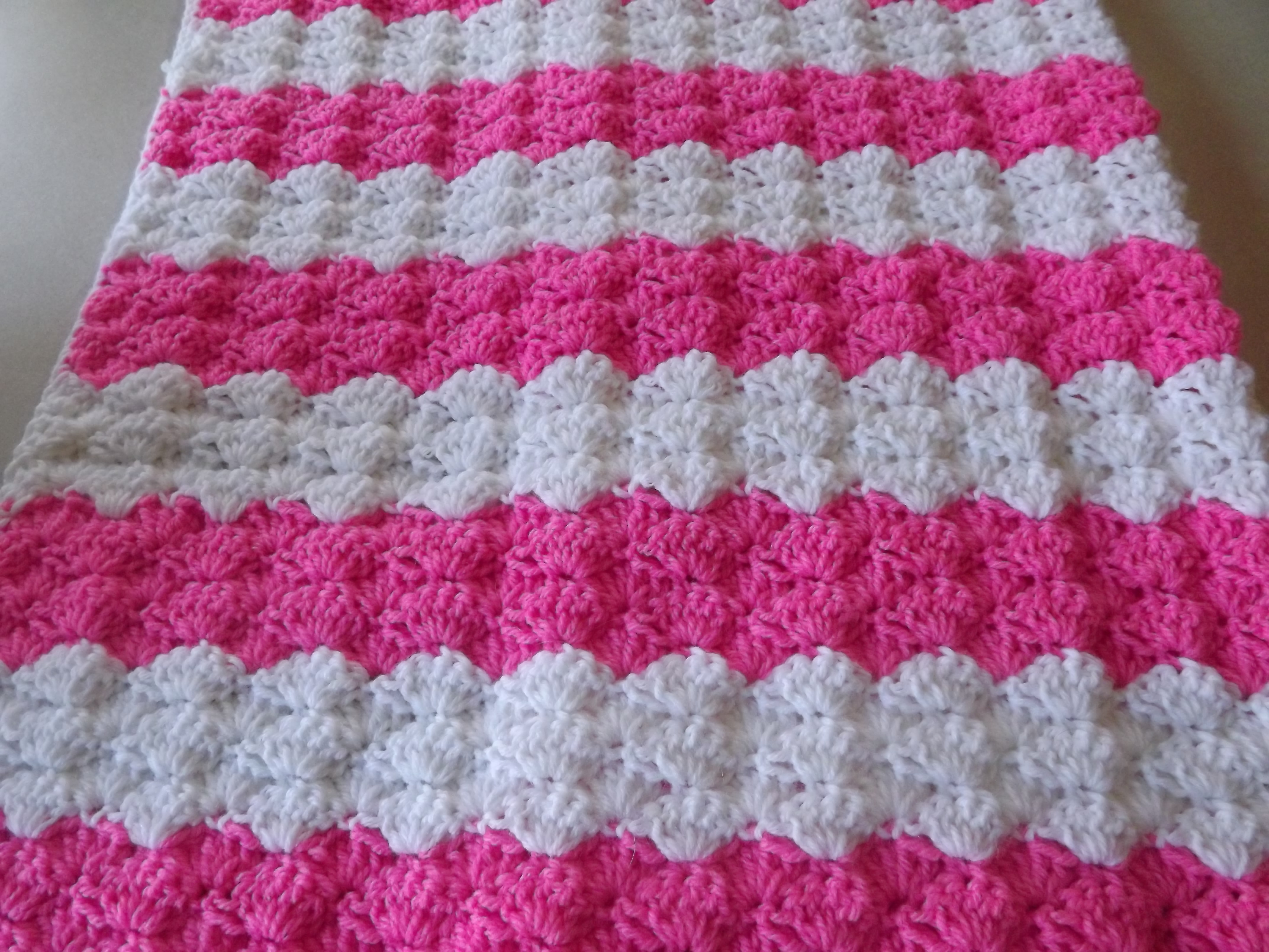 Crochet Patterns Galore Pretty Shells Baby Blanket