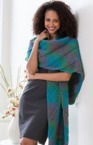 Crocheted Mitered Square Shawl