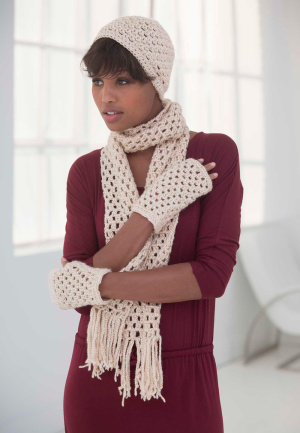 Crochet Patterns Galore Simply Basic Hat Scarf And Gloves Set