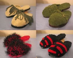 Four Clog Slipper Patterns