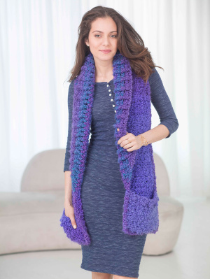 Crochet Patterns Galore Pocket Shawl